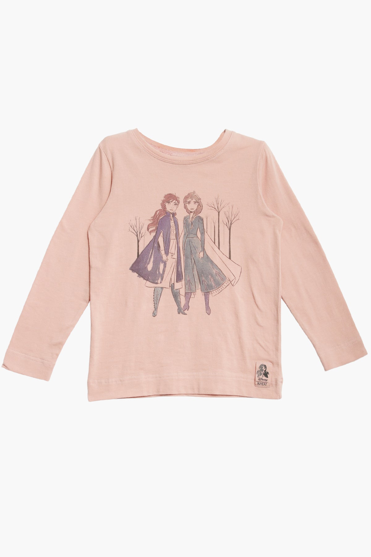 Wheat Disney Frozen Anna & Elsa Girls Shirt