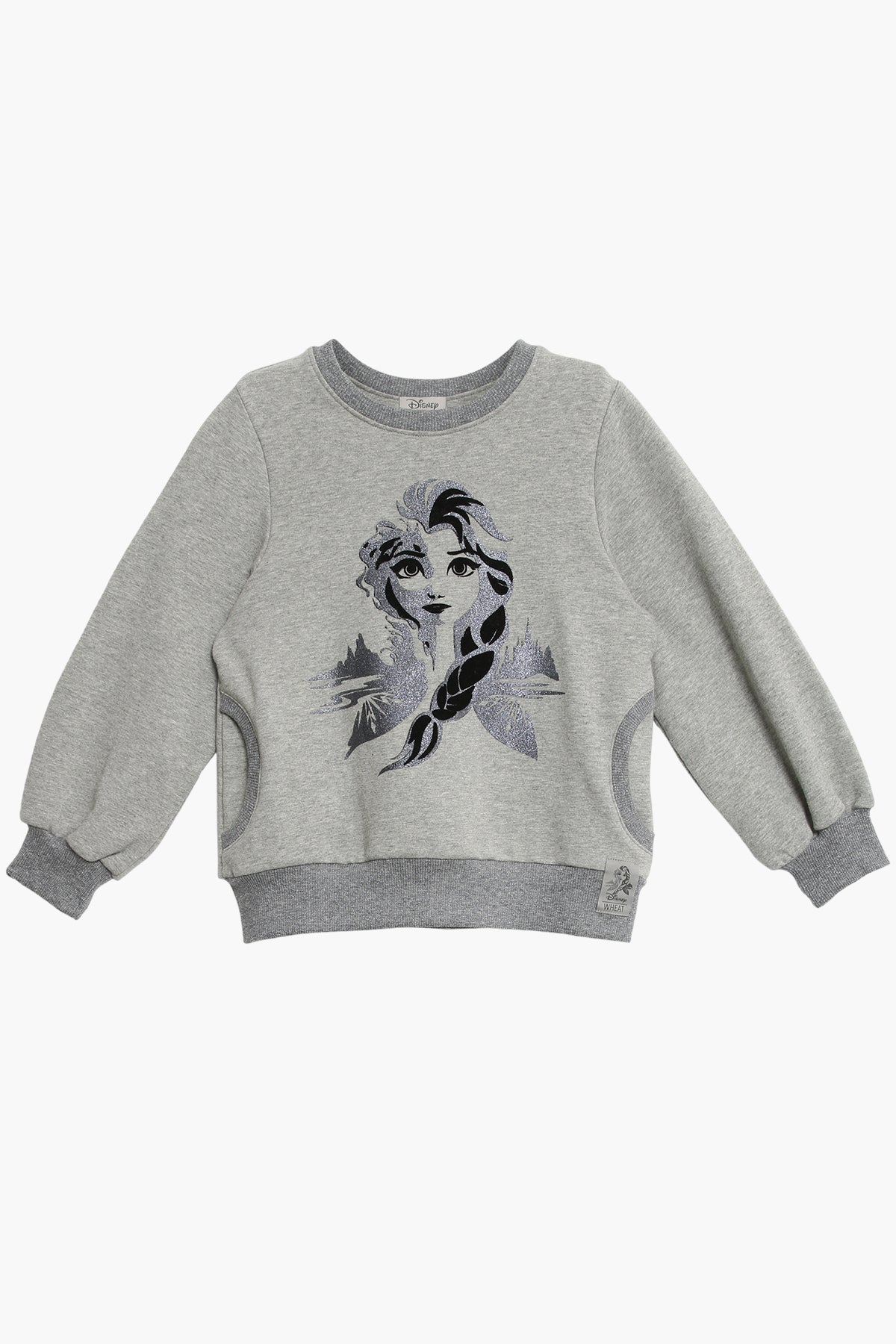 Wheat Disney Frozen Elsa Girls Sweatshirt
