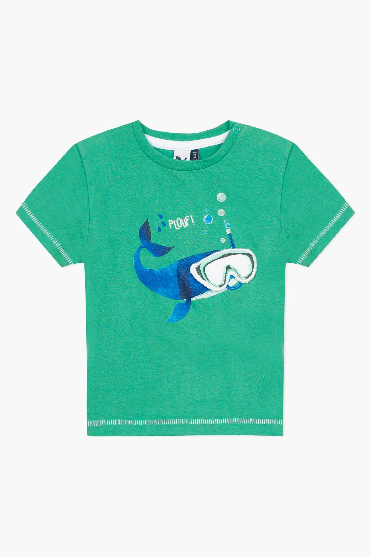 3pommes Diving Whale Baby Boys Shirt