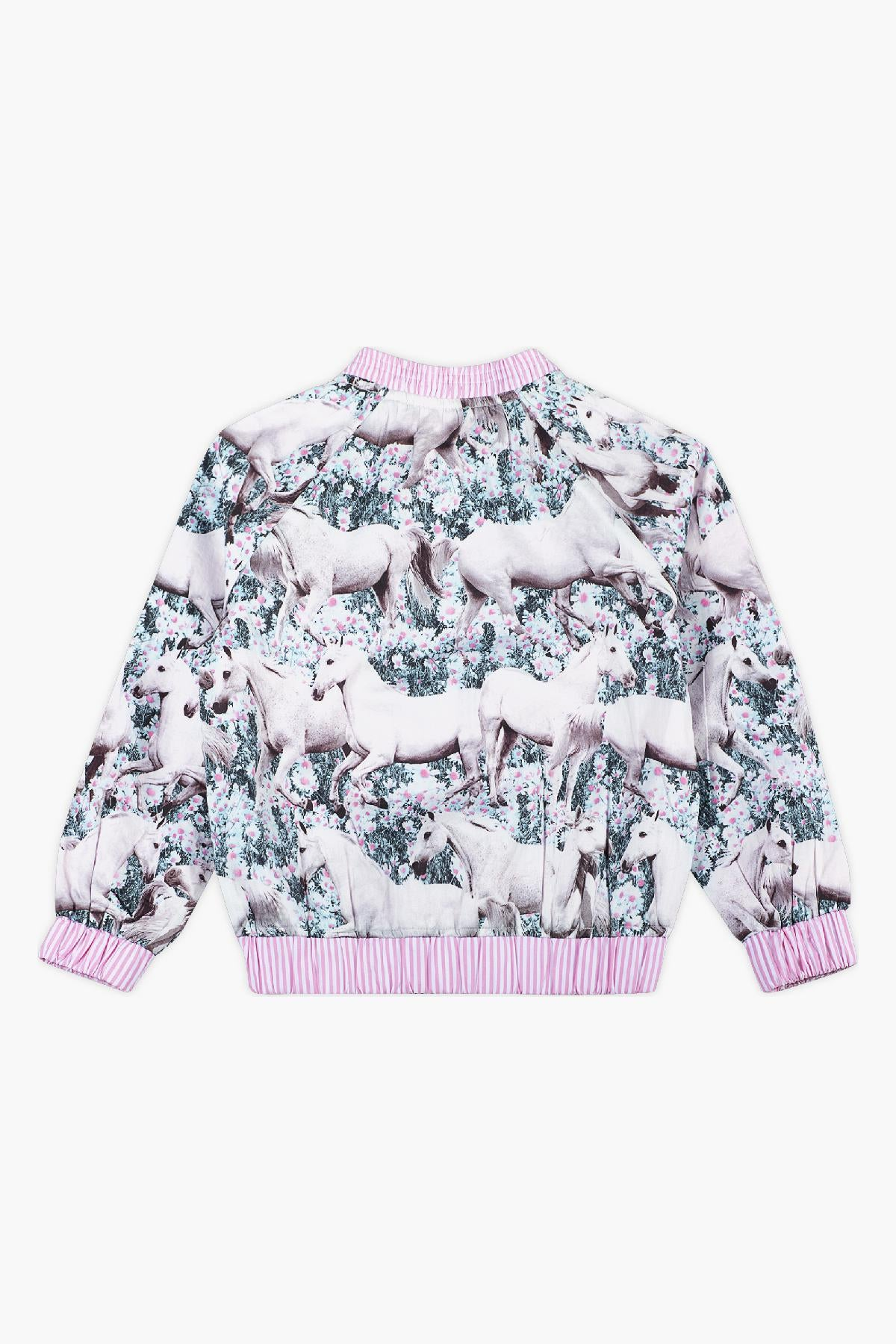 Paper Wings Dream Field Girls Bomber Jacket