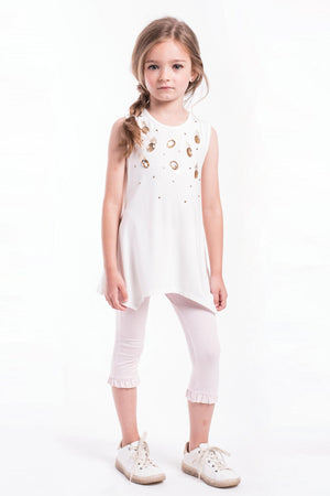 Imoga Eden Ruffle Girls Leggings