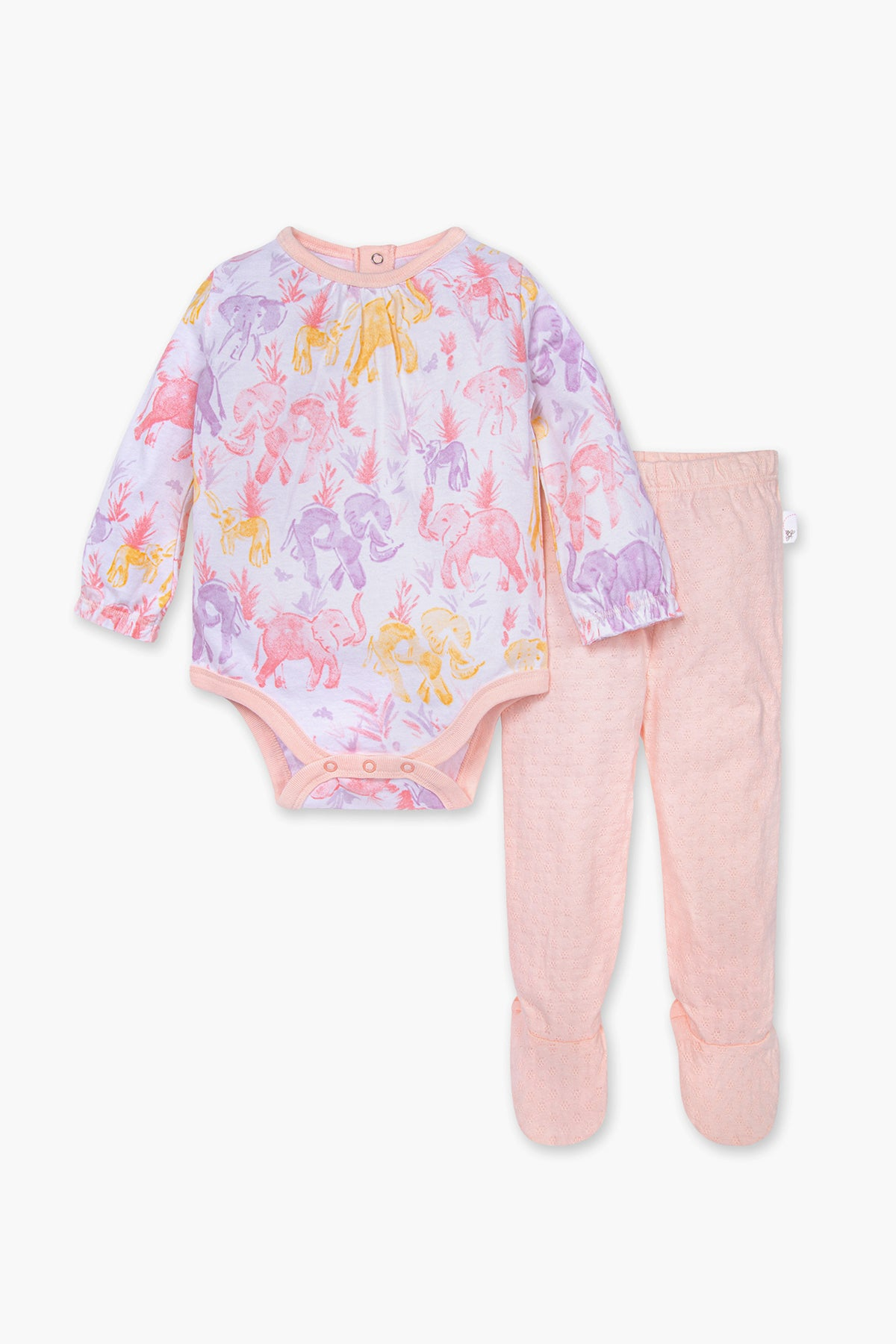 Burt's Bees Ello Elephant 2-Piece Baby Girls Set