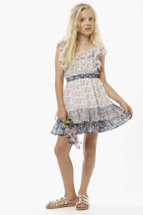 Marlo Elsa Floral Mini Girls Dress