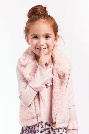 Imoga Emerson Girls Vest - Powder