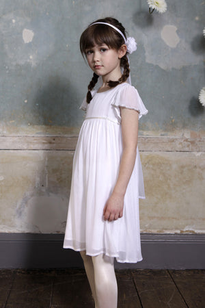 Wild & Gorgeous Emmalise Girls Dress - White