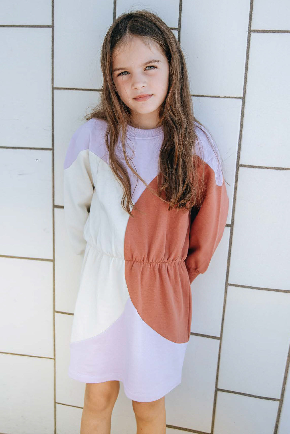 Soft Gallery Erin Colorblock Girls Dress