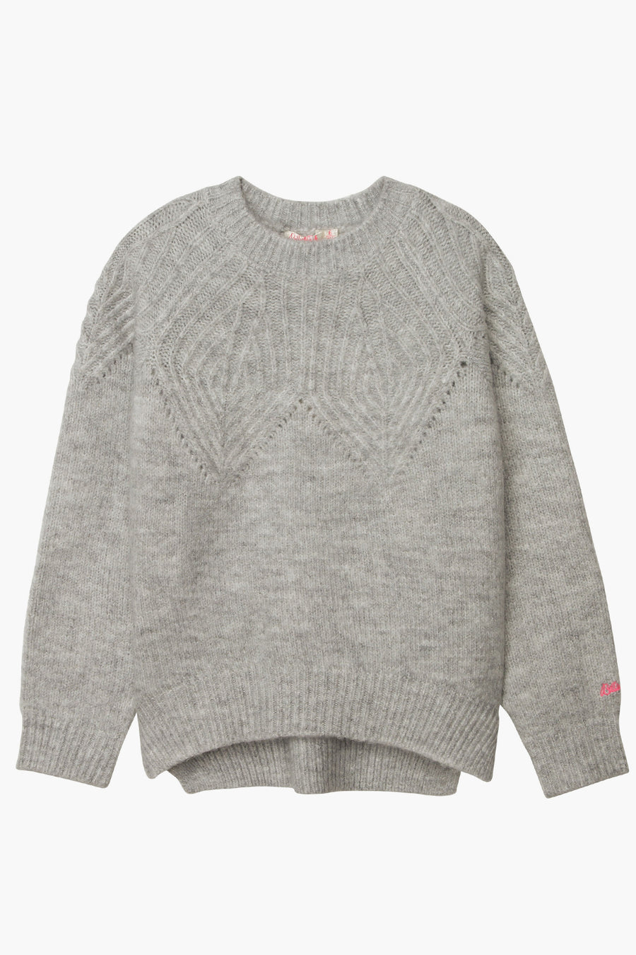 Billieblush Eyelet Knit Girls Sweater