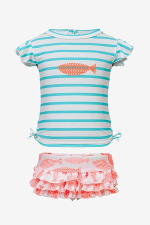 Tropical Fish Ruffle Baby Girls Set