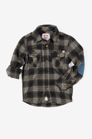 Appaman Flannel Boys Shirt - Vintage Black Plaid
