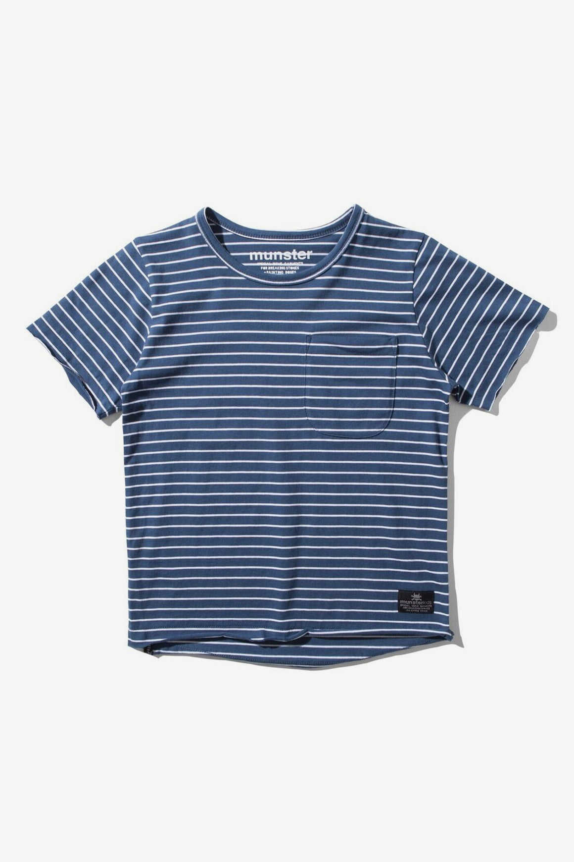 Munster Kids Flatline Tee - Navy