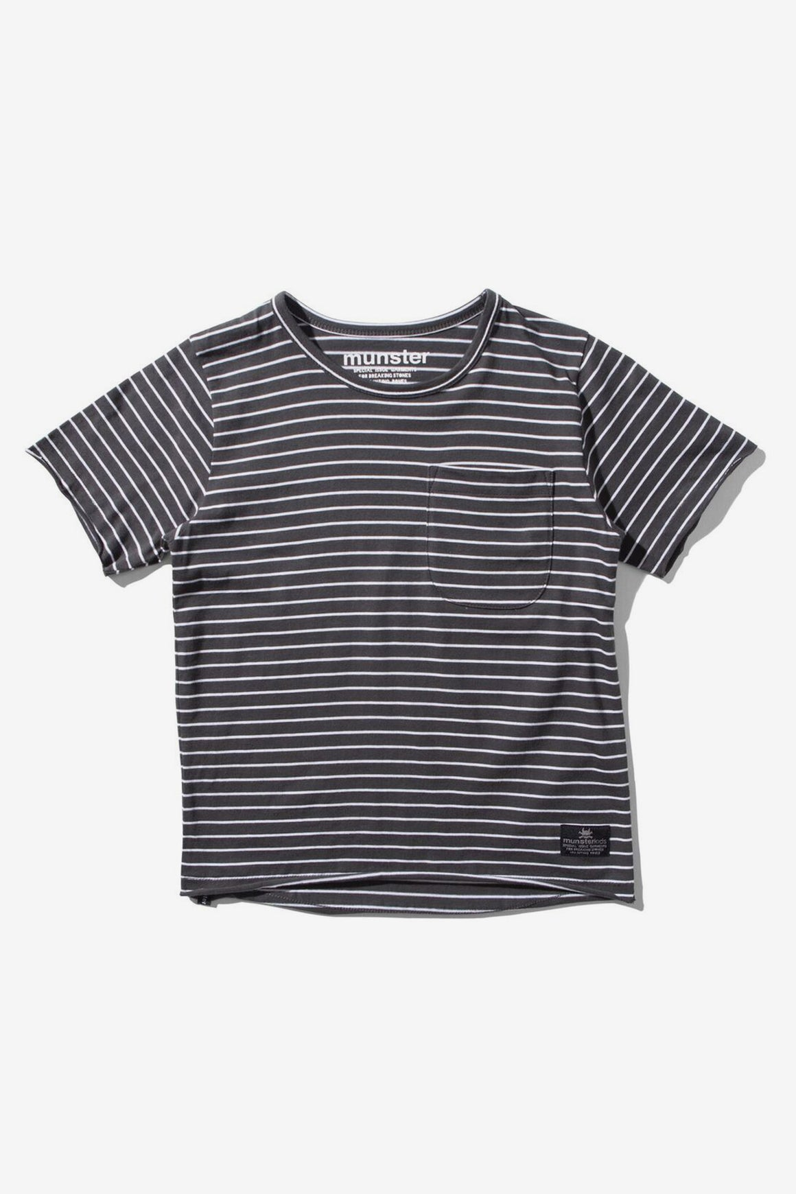 Munster Kids Flatline Tee - Black Stripe