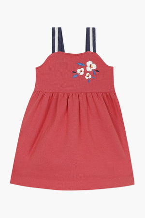 Jean Bourget Floral Embroidered Girls Dress