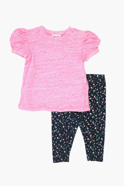 Splendid Floral Girls Legging 2-Piece Set