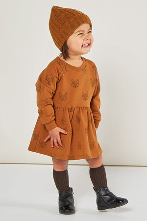 Rylee + Cru Fox Raglan Baby Dress