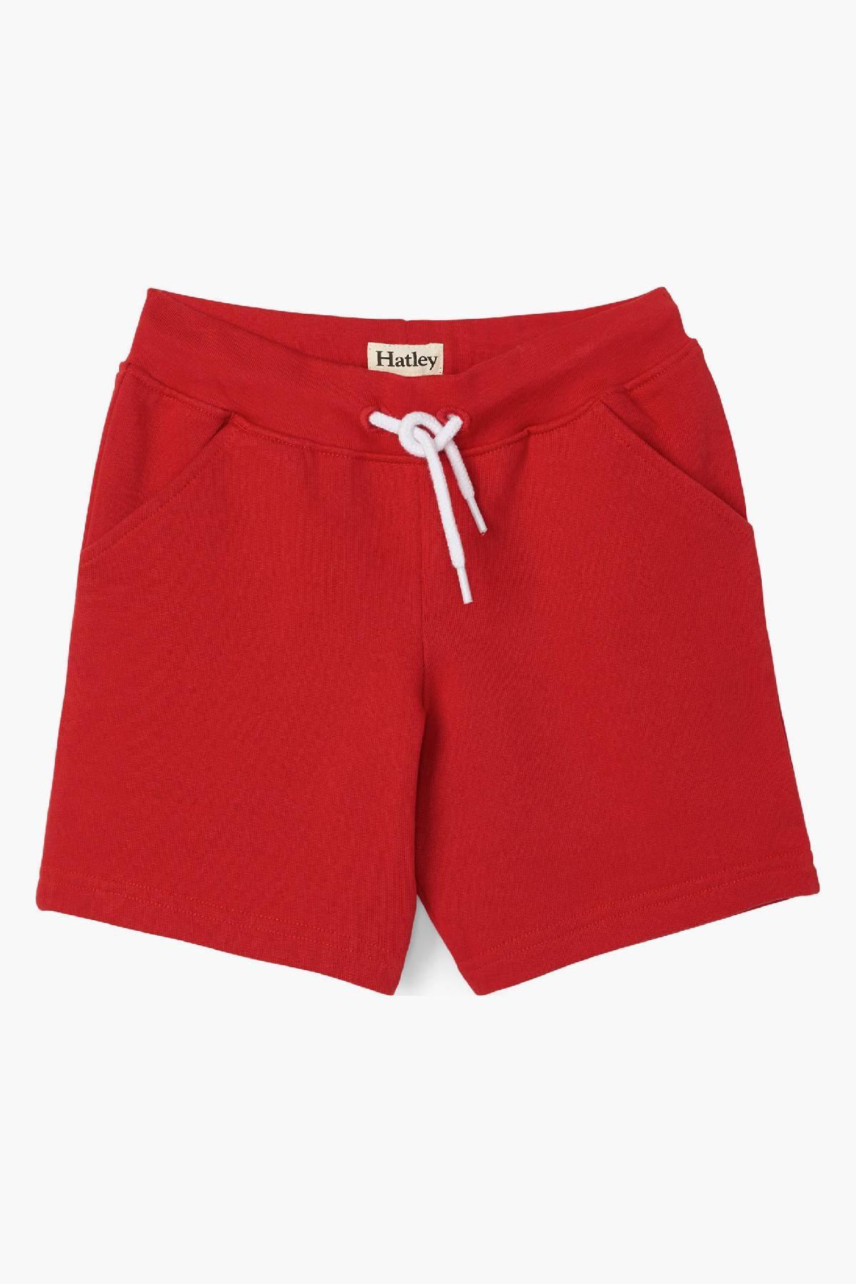 Hatley French Terry Boys Shorts - Red