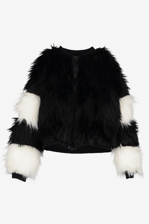 Beau Loves Fur Bomber Coat