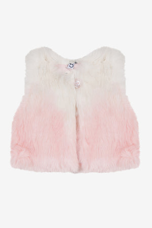 3pommes Baby Girls Faux Fur Vest