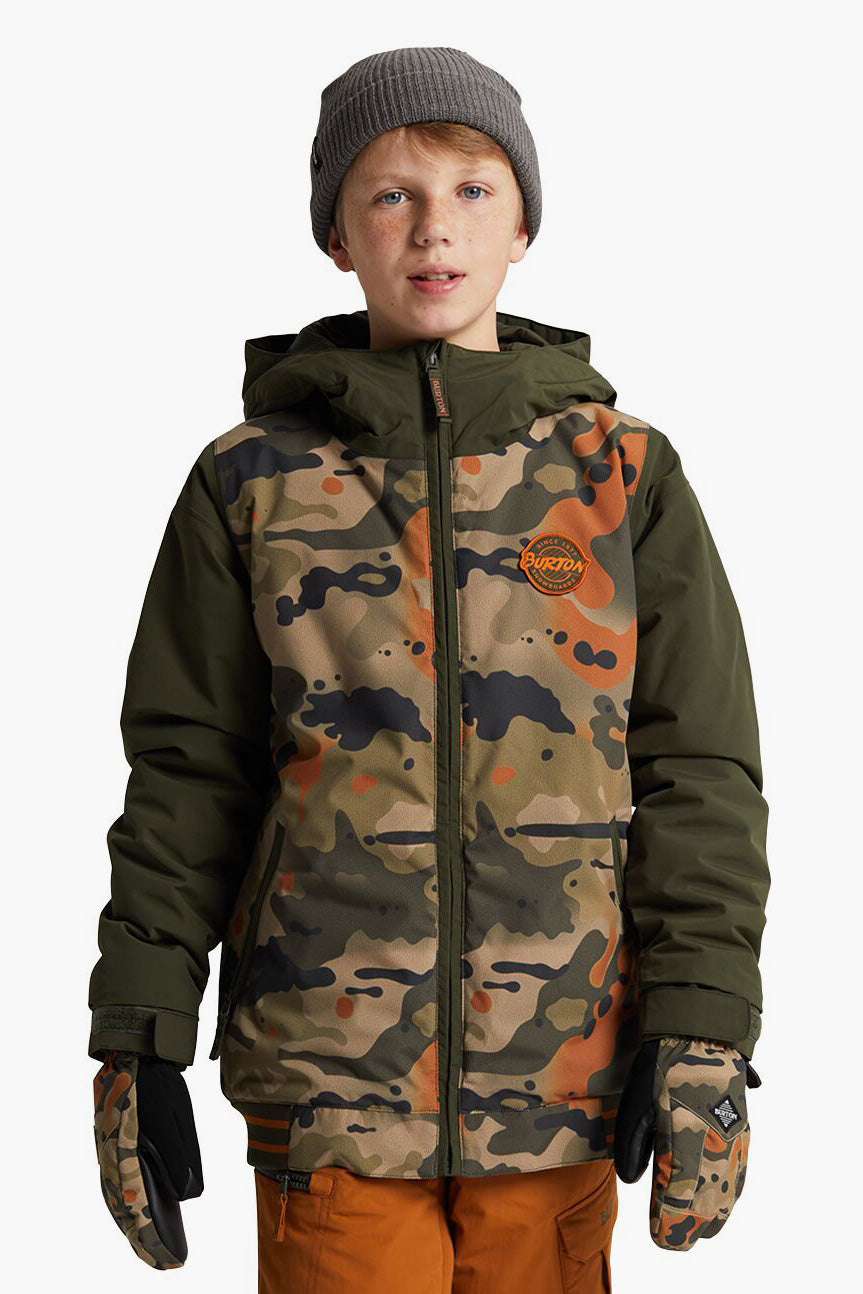 Burton Game Day Boys Jacket - Kelp Birch Camo