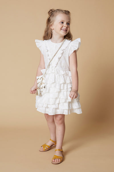 Velveteen Geena Layered Girls Dress