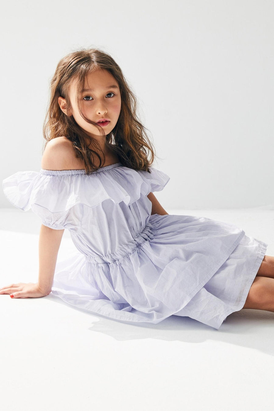 Nellystella Gemma Girls Dress - Blue Yonder