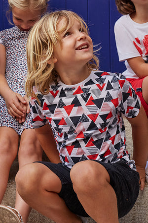 3pommes Geometric Boys Shirt