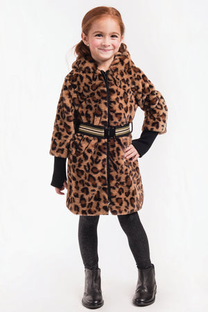 Imoga Georgia Girls Coat - Leopard