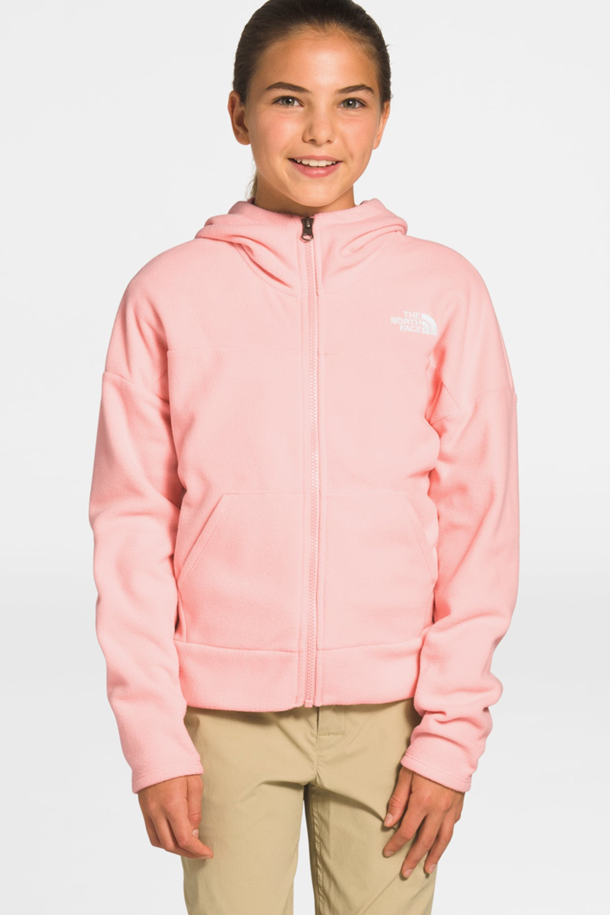 The North Face  Girls Glacier Full Zip Hoodie - Impatiens Pink