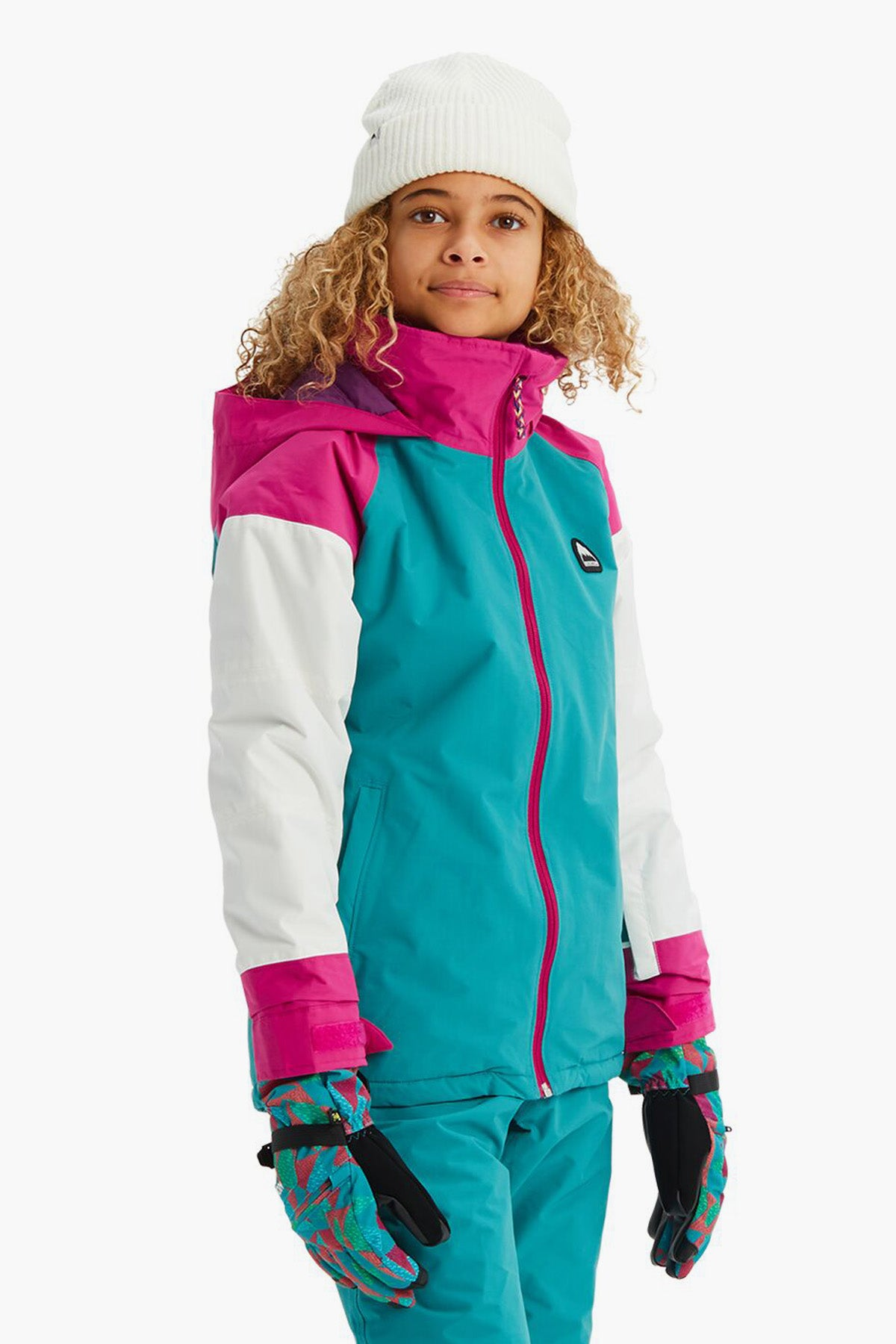Burton Girls Hart Jacket - Green Blue Slate