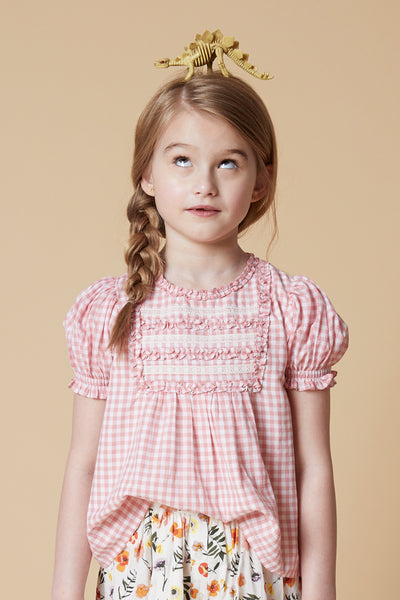 Velveteen Gracie Gingham Girls Shirt