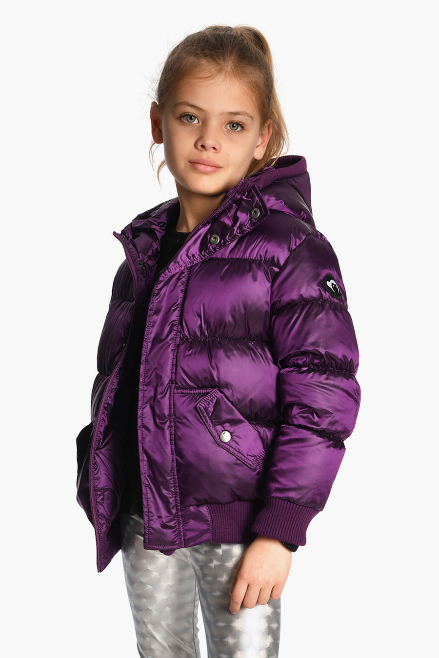 Appaman Grape Puffy Girls Coat