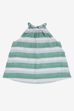 Noch Mini Stripe Halter Top - Green