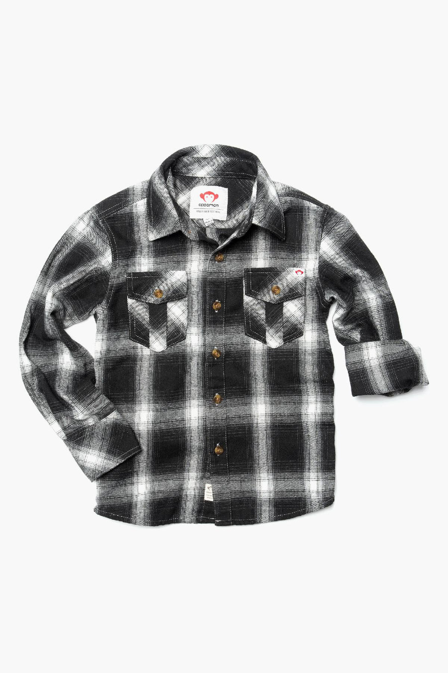 Appaman Greyscale Flannel Shirt