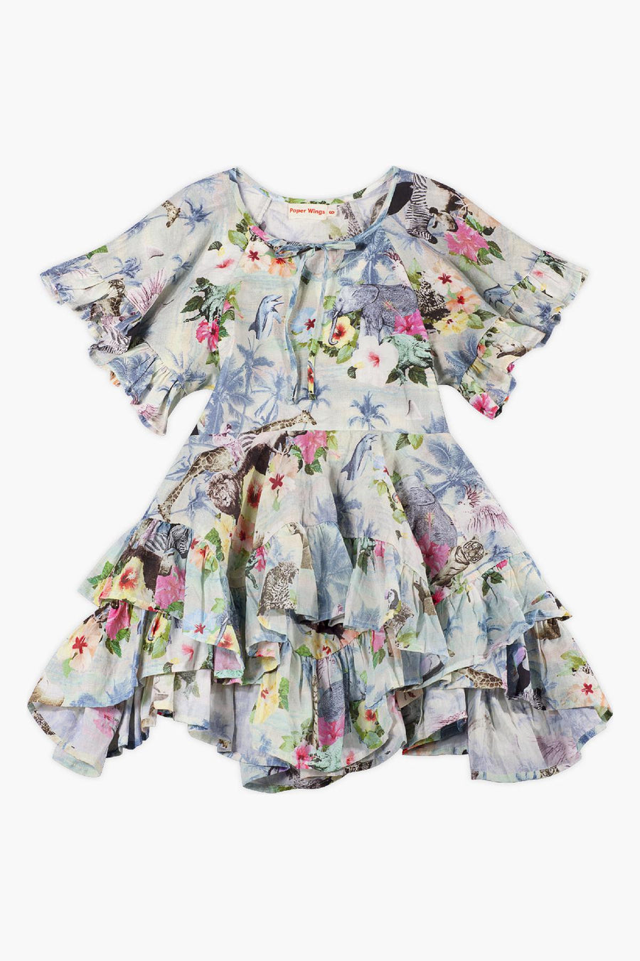Paper Wings Hawaiian Print Girls Dress