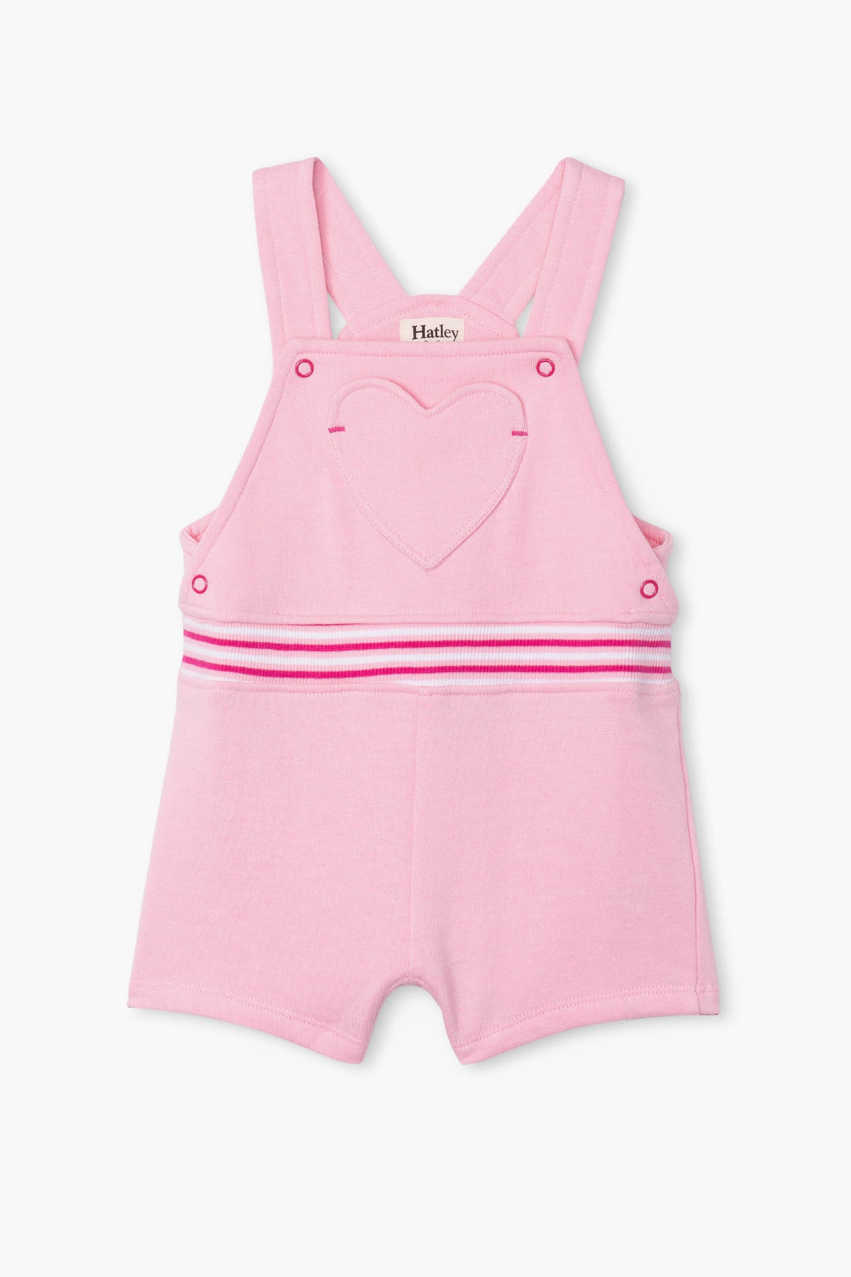 Hatley Heart Knit Baby Girls Overalls
