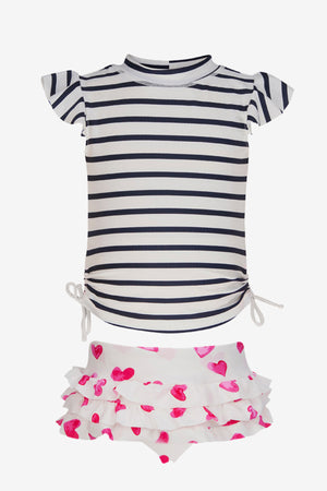Hearts Ruffle Baby Girls Set