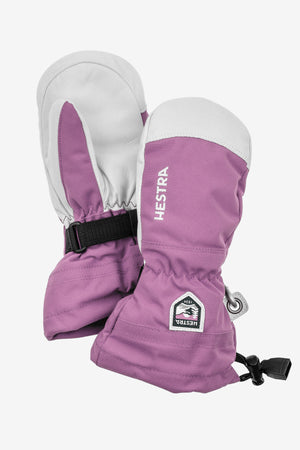 Hestra Army Leather Heli Ski Jr. Mitt - Pink