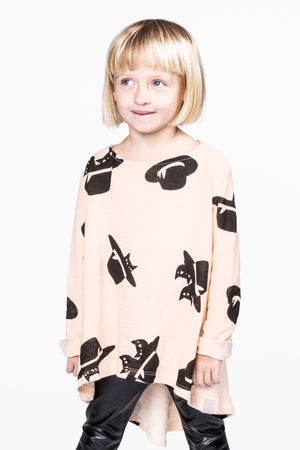 OMAMImini Hi-Low Tunic - Pale Pink