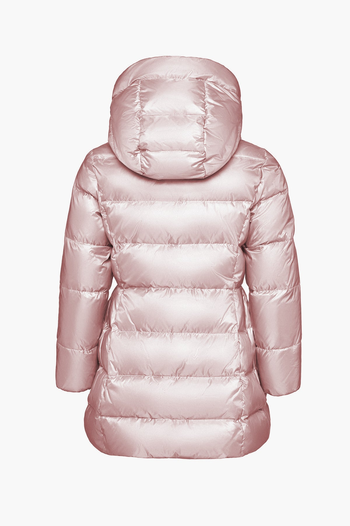 ADD Down Hooded Down Girls Puffy Coat - Blush