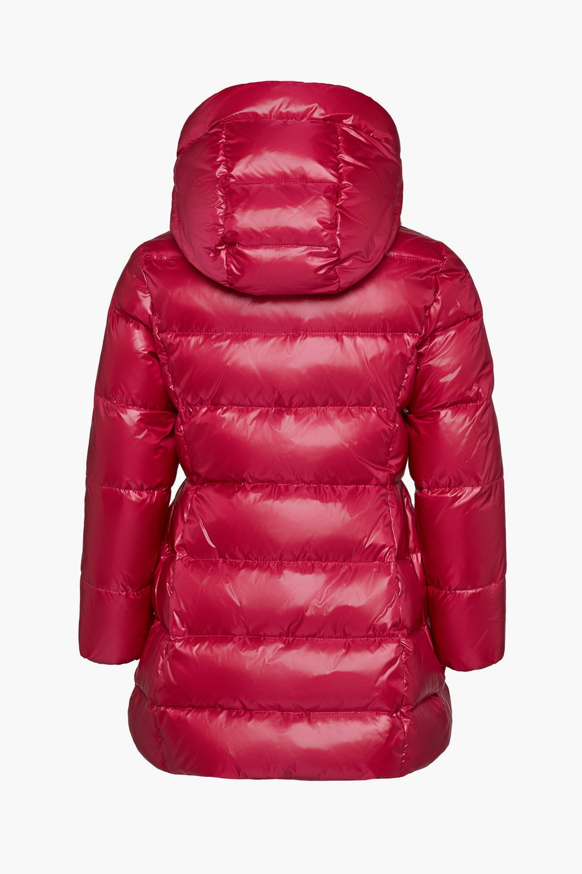 ADD Down Hooded Down Girls Puffy Coat - Fuschia