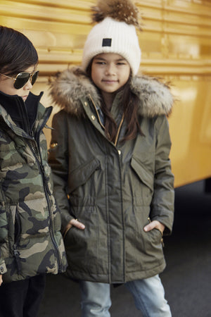 SAM. Hudson Girls Coat - Natural
