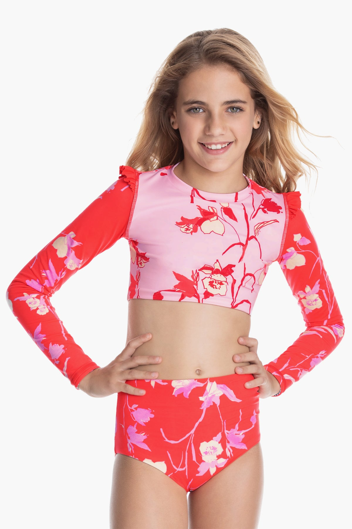 Maaji Jewel Of The Sea Girls Rash Guard Set