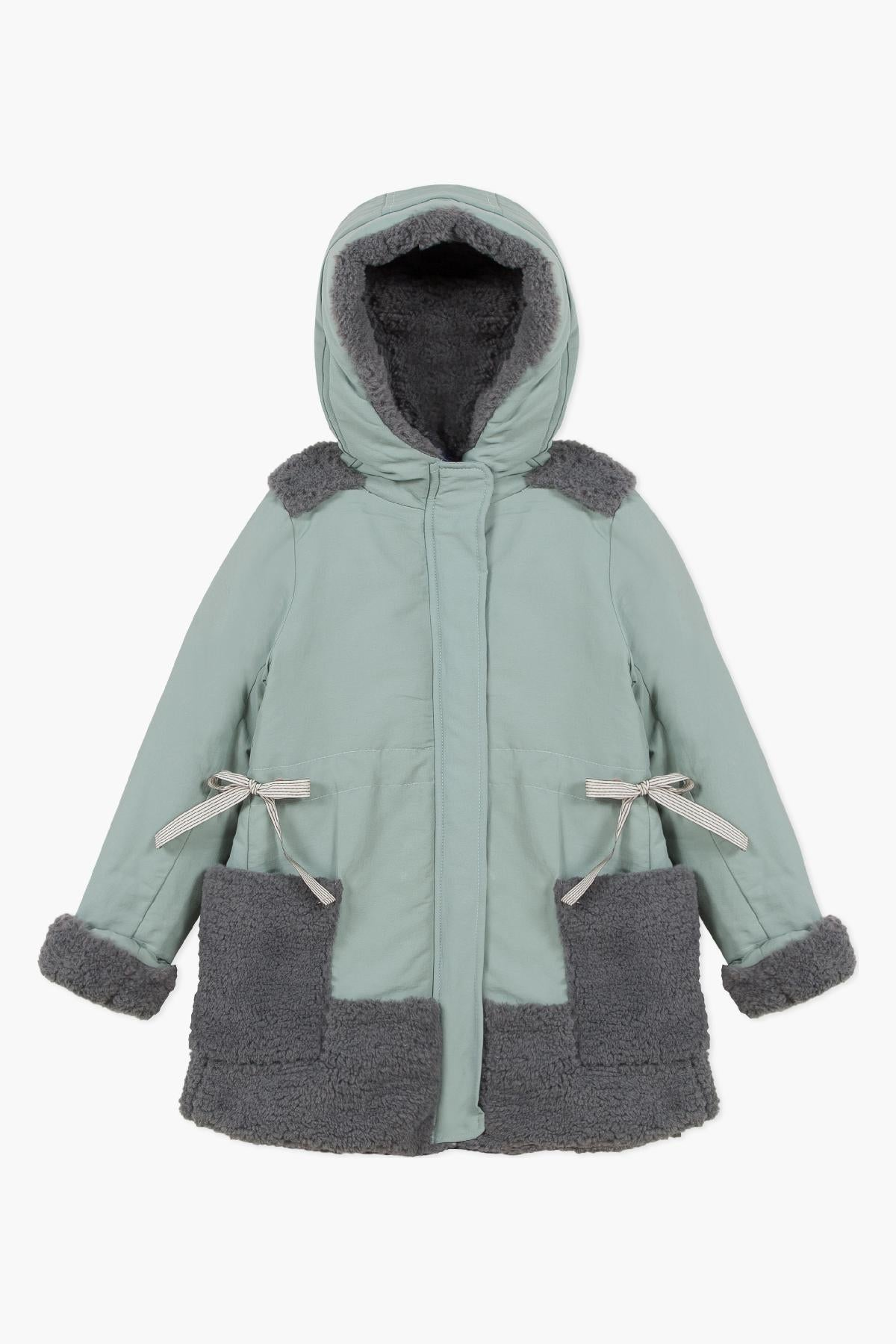 Jean Bourget Lagoon Blue Girls Parka