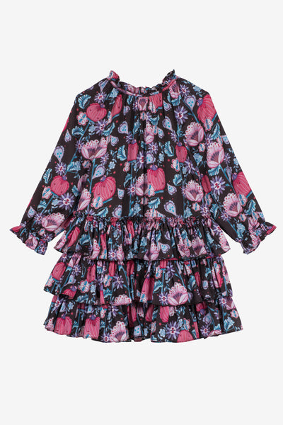 Velveteen Lea Dress - Magic Flowers