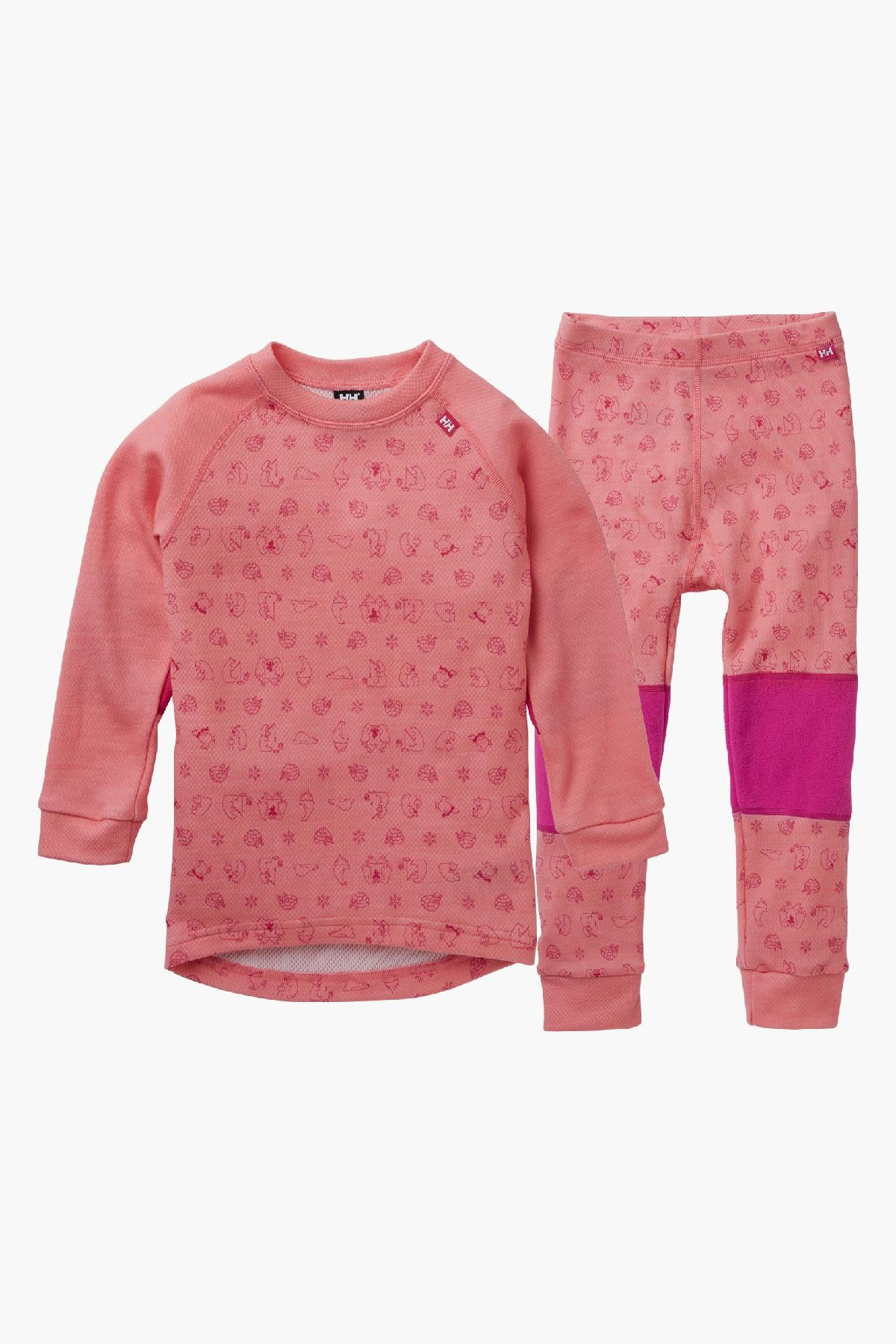 Helly Hansen Lifa Merino Girls Baselayer Set - Conch Shell