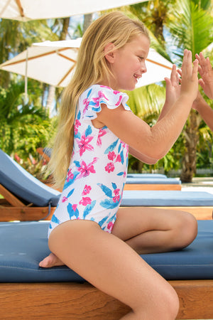 Snapper Rock Lily Flutter Sleeve Surf Suit