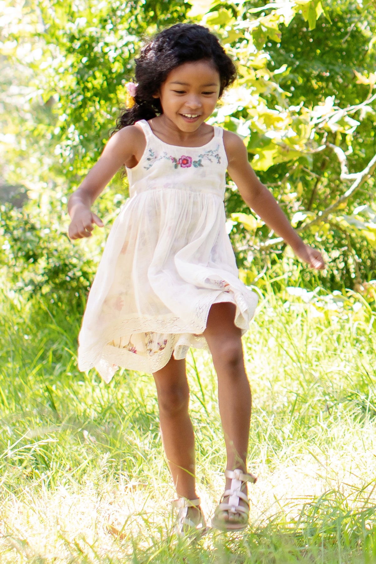Mimi & Maggie Luna Lace Girls Dress