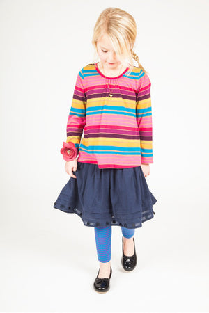 Pink Chicken Maggie Girls Skirt in Navy
