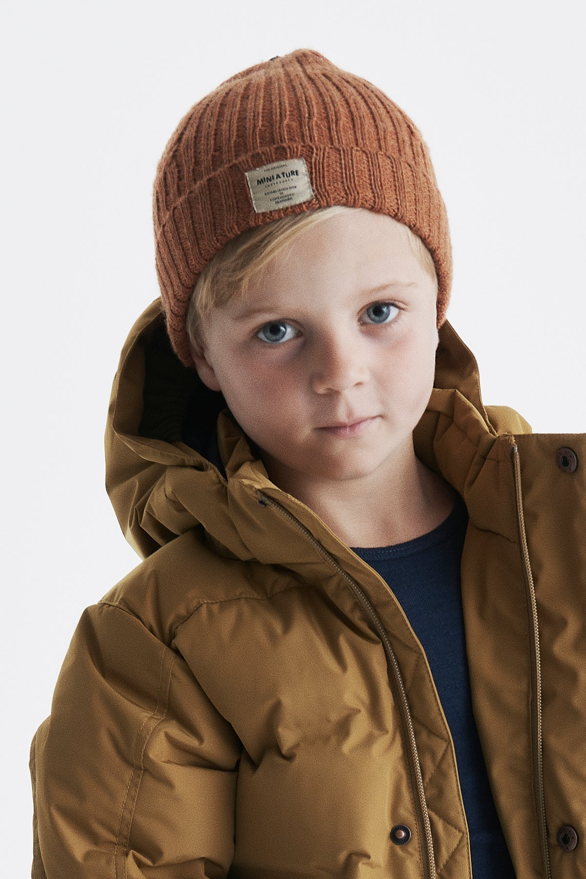 Mini A Ture Merino Knit Kids Hat - Autumn