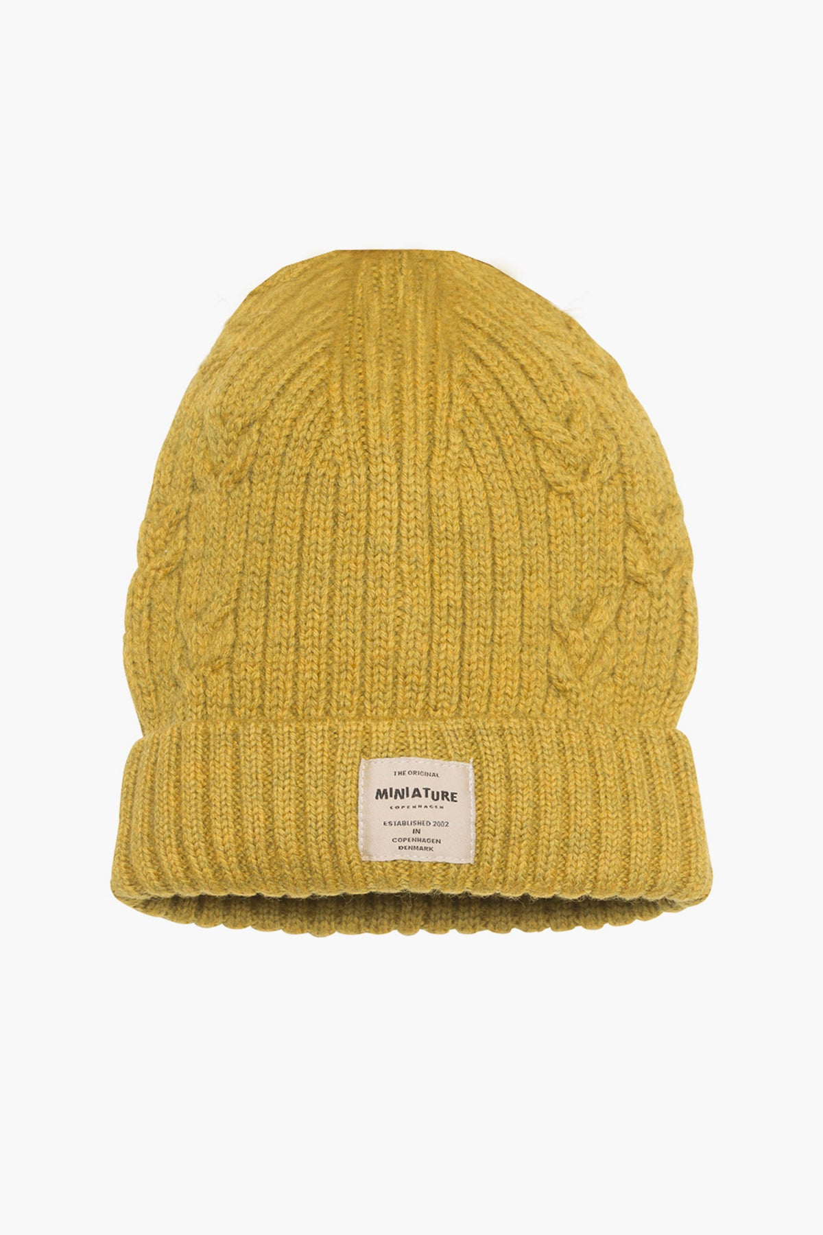 Mini A Ture Merino Knit Kids Hat - Dijon
