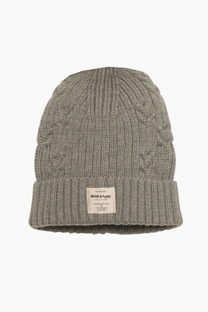 Mini A Ture Merino Knit Kids Hat - Moss